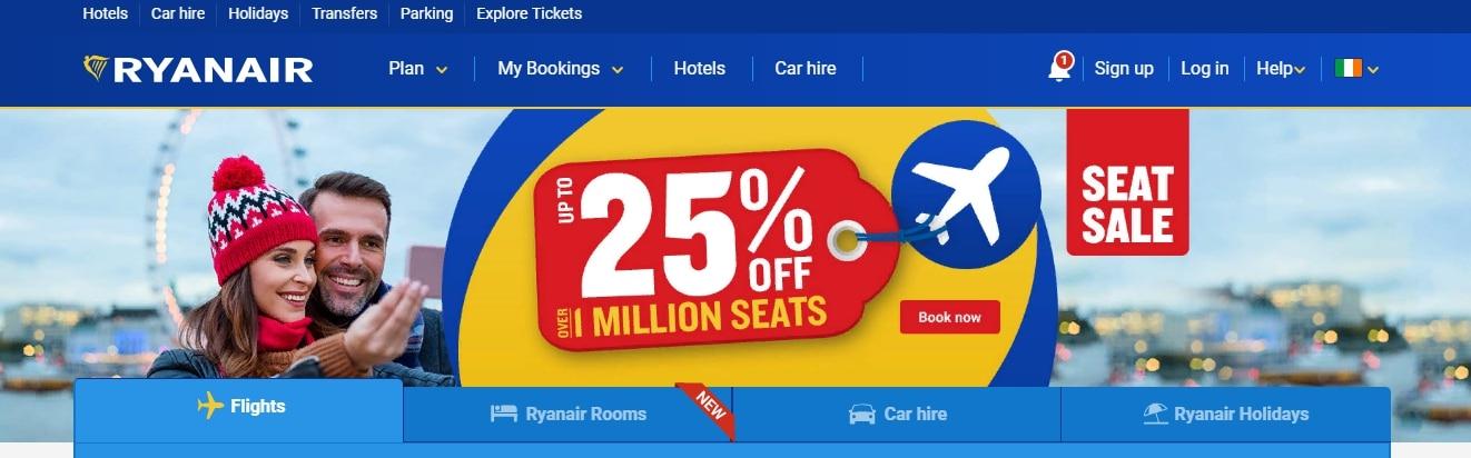 Ирландская бюджетная авиакомпания Ryanair
