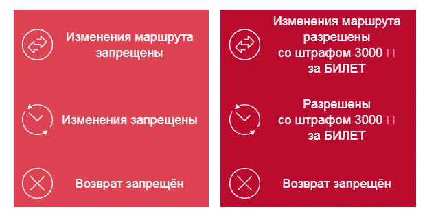 Условия тарифов «Промо лайт» и «Промо» до окончания регистрации на рейс