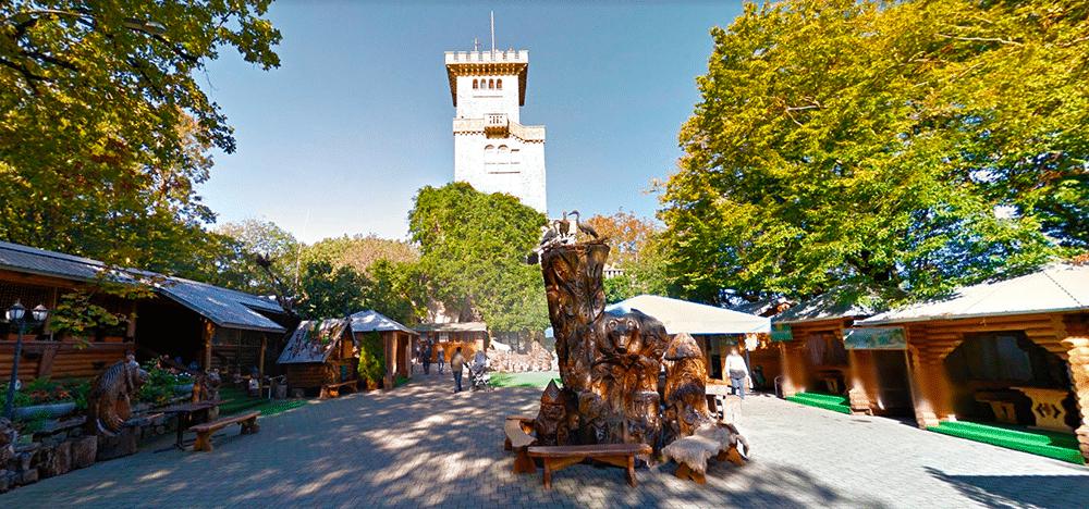 Белая башня на горе Большой Ахун