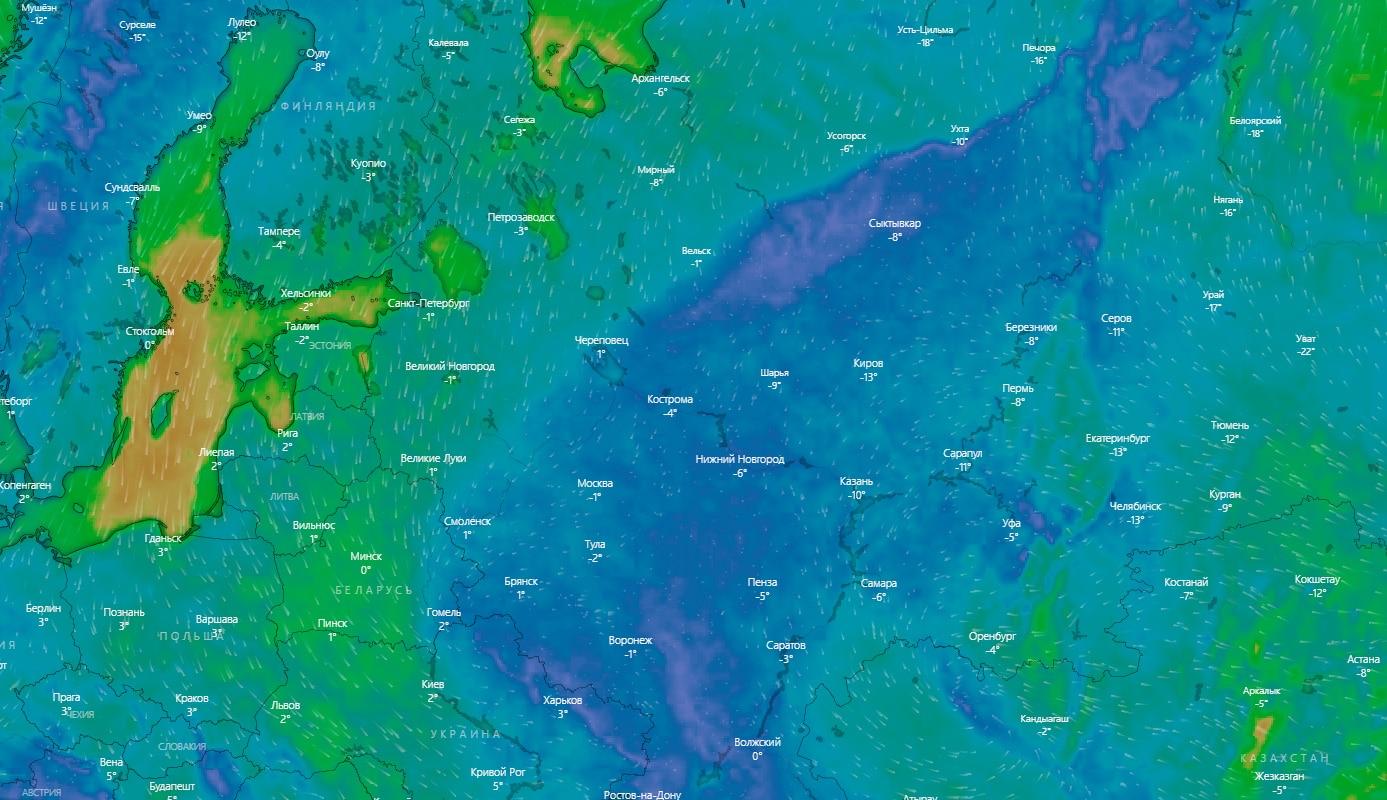 Интерактивная карта погоды мира